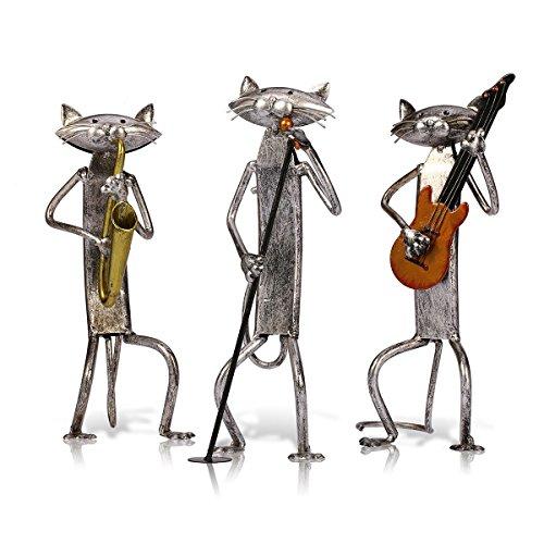 Tooarts Cat Band Sculpture Set 3...