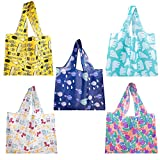 Beach Tote Bags Grocery Bags Reusable Shopping Bags, Washable Tote Bags Sturdy Foldable