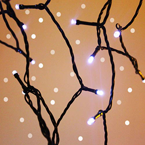 QINOL 2-Pack 400LED 72FT Solar String Lights Outdoor, Green Wire Solar String Mini Lights Outdoor, Waterproof 8 Modes Tree Ramadan Decorations Twinkle Lights (Cool White)