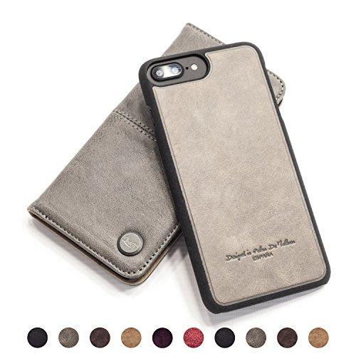 QIOTTI Ledertasche Klappbar abnehmbar … (Smart Grey)