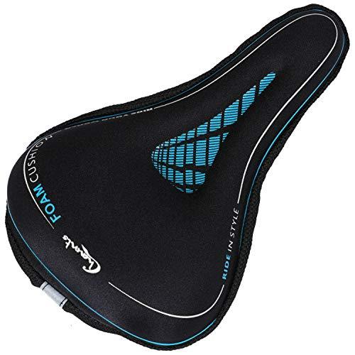 Funda de cojín de espuma viscoelástica para asiento de bicicleta Funda de cojín de asiento de bicicleta suave y cómoda para mujeres o hombres, ciclismo de carretera, gimnasio, bicicleta de montaña
