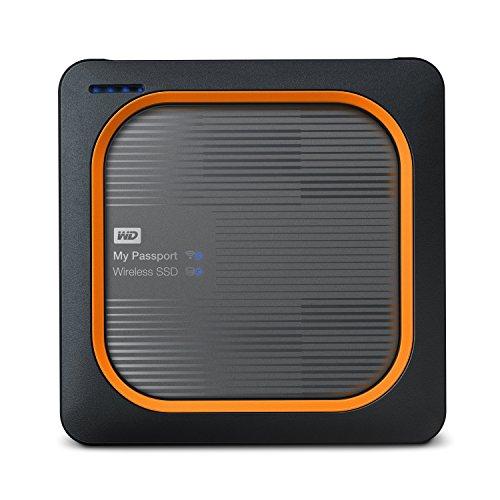 western digital my passport ssds WD 1TB My Passport Wireless SSD External Portable Drive, WiFi USB 3.0, Up to 390 MB/s - WDBAMJ0010BGY-NESN
