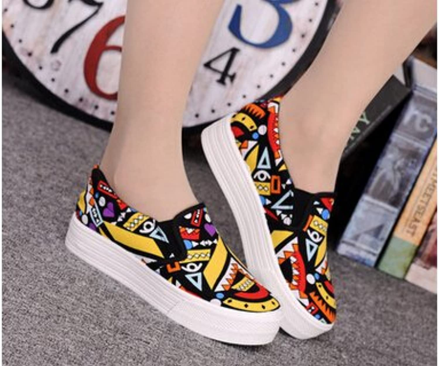Brighty-U Durable Fashion Women Canvas shoes Summer colorful Women shoes Flats Breathable Casual shoes Women Zapatillas womens