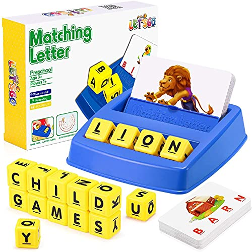 Best Gifts for 4-8 Year Olds Boys Girls Matching Letter Games Spelling...