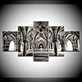 ZYJHD Frameless 5 Pieces Hd Print About University of