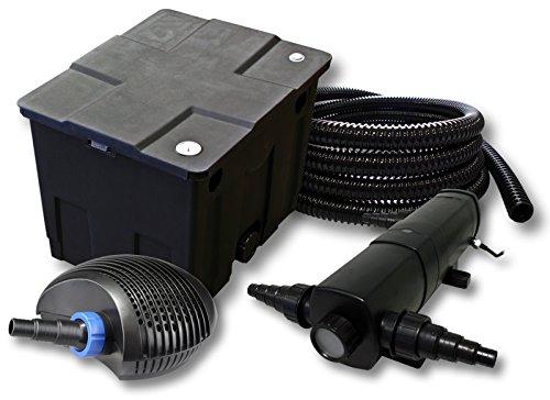 Filter Set für 12000l Teich mit 24W Teichklärer und CTF ECO Pumpe mit 40W 25m Schlauch