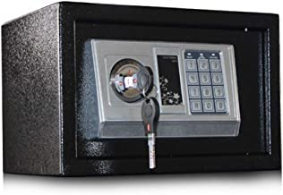 Double-Lock Anti-Theft Safe Deposit Box Digital All-Steel Safe Box Wall Or Floor Mounted Storage Box for Money, Jewelry, B...