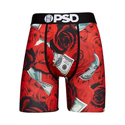 PSD Men's Brief Underwear Bottom (Red / 100 Roses, XXL)