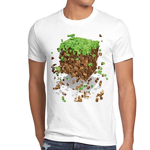 Preisvergleich Produktbild A.N.T. Exploding Cube Herren T-Shirt Block würfel Spiel Game,  Größe:L