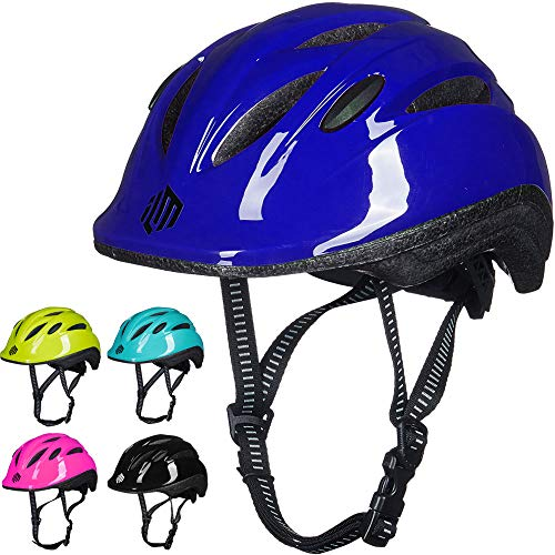 ILM Kids Youth Bike Helmet Toddler Bicycle Cycling Helmet with Adjustable Dial for Boys and Girls (Dark Blue, Small/Medium)