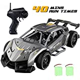 EACHINE Remote Control Cars for Boys 8-12, EC05 RC Drift Sports Racing Cars Alloy 1/24 Scale 15 Km/h High Speed 40 mins Electric Vehicle RC Drag Cars Super Cars Large Toys Gift for Kids and Adult