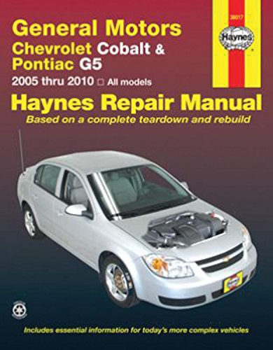 General Motors Chevrolet Cobalt & Pontiac Automotive repair Manual: Chevrolet Cobalt – 2005 Through 2010,…