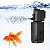 TechnologyMatter Filtre interne submersible pour aquarium jusqu'à 40 gallons, tortues, reptiles, grenouilles