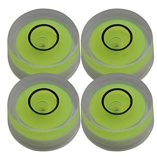 BQLZR - Nivel de burbuja de espiral, 12 x 6 mm, redondo, herramienta de medición, nivel de superficie, para reproductor LP, giratorio, paquete de 4