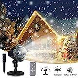 LED Projektionslampe, Schneepunkt Projektor Lampe Weihnachtsprojektor Licht...