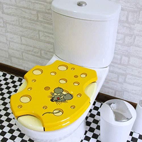 Siège De Toilette Imprimé Souris Avec Mdf Ne Pas Ralentir Épaissir Couvercle De Toilette Ultra-résistant Et Facile À Assembler Pour Toilette En U/Abattant Wc Facile À Nettoyer Facile À Installer