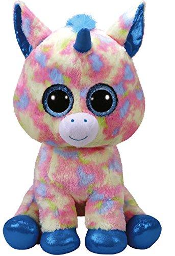 TY - Beanie Boo's Blitz, peluche unicornio, color azul, 40 cm (United...