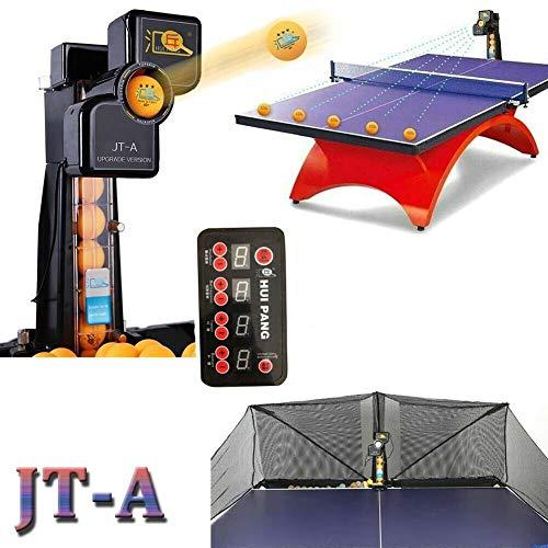 TABODD - Robot de ping pong con red Catch Net de 50 W, máquina automática de pelotas de tenis de mesa para entrenamiento, casa y jardín con invitados de amigos, familias, jugar juntos