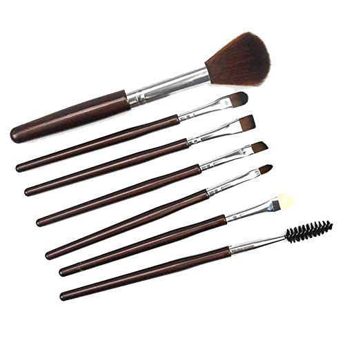 Anliyou Lot de 20 pinceaux de maquillage pour les yeux et les yeux - Marron - marron, 7 PC PINSEL
