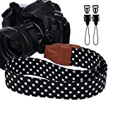Eorefo - Correa para cámara réflex digital, diseño vintage, color negro