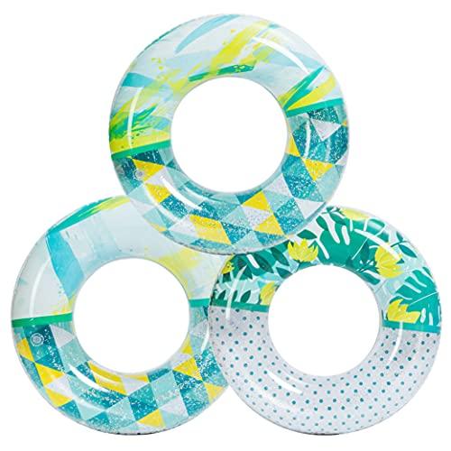 JOYIN 3 Unidades de Tubos inflables de Moda para Piscina, flotadores de Piscina de 32.5 cm, Juguetes con Purpurina para decoración de Fiesta en la Piscina