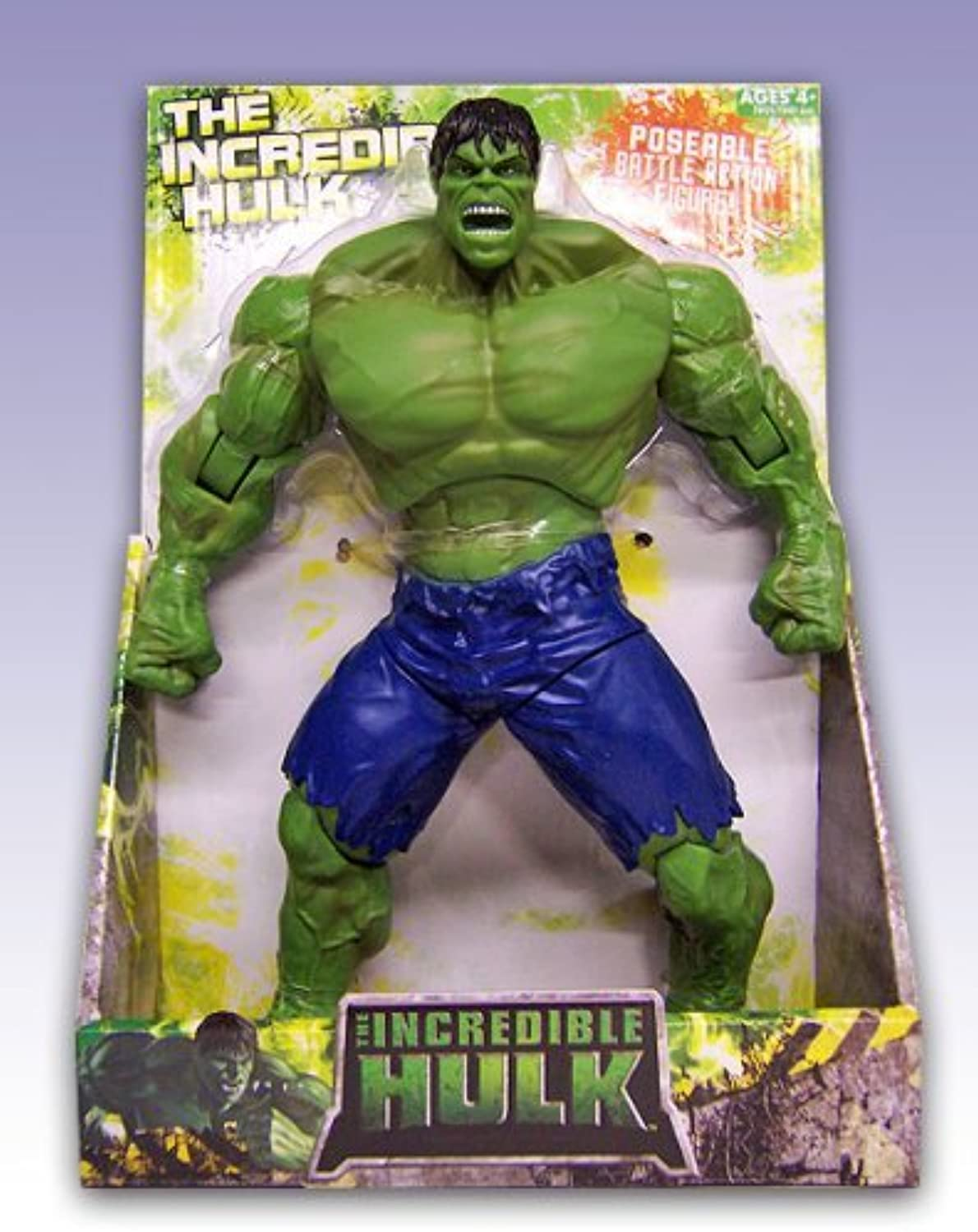 Unbekannt The Incrotible Hulk Poseable Battle Aktion steht 10inches Tall