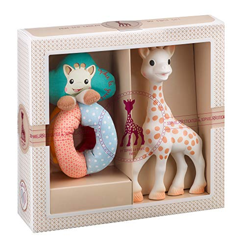 Vulli Sophiesticated–Sophie die Giraffe–Geschenkset zur Geburt, ab 2 Jahren, Größe S