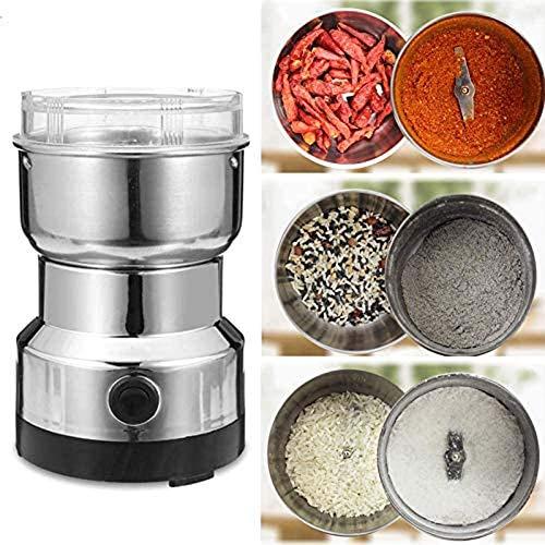 Smash machine elektrisk matberedare hushåll liten kvarn med matkvalitet rostfritt stål blad hög kvalitet lågt brus idealisk köksassistent för kaffebönor flingor kryddor