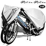 Bike Cover, 210D Heavy Duty Outdoor Waterproof Bicycle Covers UV...