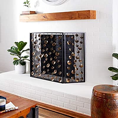 Deco 79 Fireplace Screens, Extra Large, Gold by Deco 79
