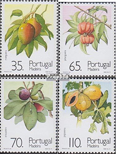 Prophila Collection Portugal - Madeira 149A-152A (kompl.Ausg.) 1991 Subtropische Früchte + Pflanzen (Briefmarken für Sammler) Pflanzen / Pilze