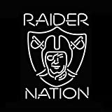 Desung New 24'x20' Oakland Sports Team Raider NATION Neon Sign Man Cave Bar Pub Beer Neon Lamp Real Glass Neon Light DX45