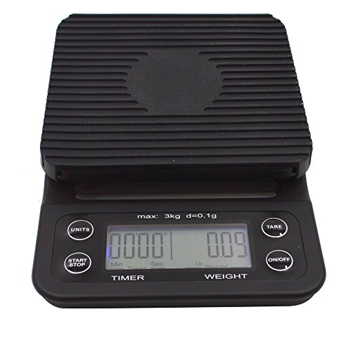 Ivykin Multi-function Digital Food Kitchen Scale Timer for Drip / Pour Over Coffee / Cooking / Baking with Easy to Clean Rubber Mat