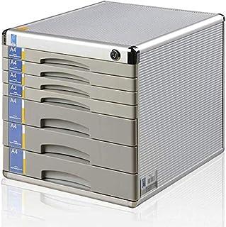 HongLianRiven Armoire de Rangement Multifonction en Alliage d'aluminium pour Bureau Grande capacité 30 x 36 x 30,5 cm