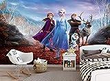 Photo Wallpaper Frozen 2 Kids Children Bedroom Girl Room Elsa Anna Deer Wall Mural W 366 cm x H 254 cm Wall Decoration Giant Paper Poster