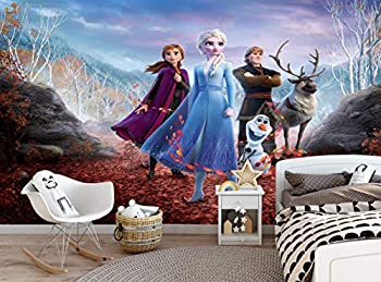 Frozen Wallpaper - Kids Children Bedroom Elsa Anna Olaf Wall Mural  144x100in - 366x254cm  Paste Included Wall Decoration Paper Poster Kids Girl s Room Large Size