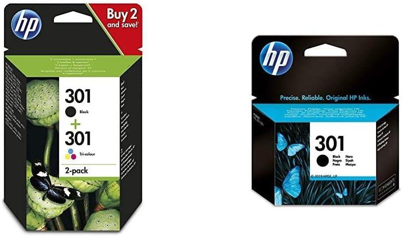Hp N9j72ae 301 Original Ink Cartridges Black And Tri Color 2 Pack Bürobedarf Schreibwaren