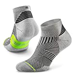 Rockay Flare Running Socks for Men and Women, Cushion, Quarter Cut, Arch Support, 100% Recycled, Anti-Odor (1 Pair)