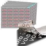 240X Tamper Evident etiquetas de seguridad VOID material Precintos de seguridad.. 'precinto de garantía Si se retira. Color Plateado Mate Metálico pegatinas de poliéster.