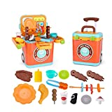 MOMIN Conjunto de Juegos de Cocina 'My Little Chef'Miniature Kitchen Play Set con Accesorios Cocina de Juguete (Color : Multi-Colored, Size : One Size)