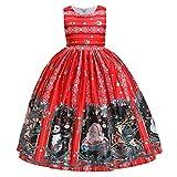 ⛄ 🎄 Bumplebee Weihnachts Kleid Mädchen Kinder Weihnachtskleid Party Prinzessin Kleid Rentier Druckkleid Festlich A-line Swing Abendkleid Vintage Knielang Festkleid