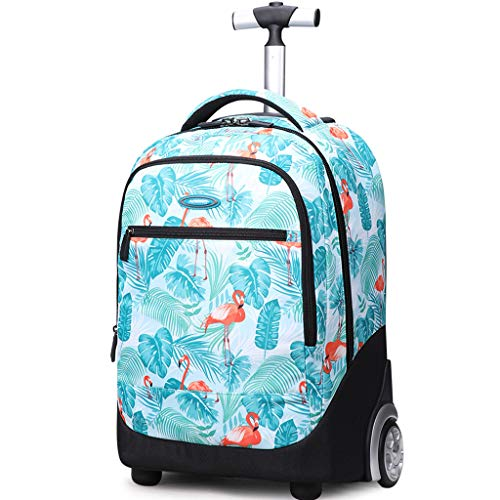 Rolling Rugzak voor kinderen, Trolley tassen voor Kids School Travel Laptop Boeken Multifunctionele wielen Rugzak Bagage…