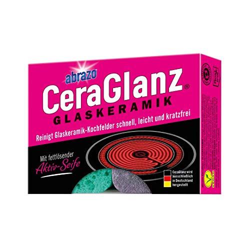 abrazo CeraGlanz Glaskeramik 2x Ceranfeld Reiniger antibakteriell Professioneller Glaskeramikreiniger Kochfeld-Reiniger kratzfrei