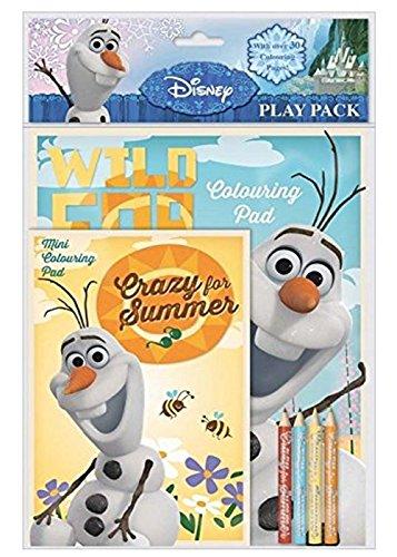 Disney La Reine des neiges Olaf Play Lot avec livre de coloriage et mini livre de coloriage, crayons de distribution