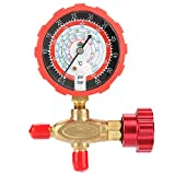 Manifold Gauge,800psi 55kgf/cm² Air Conditioning Manometer,Air Condition Manifold Gauge Manometer and Valve,For R404a