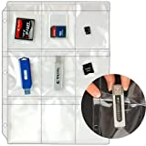 StoreSMART - Plastic Pages - Memory (SD) Cards and Flash Drives - Top Load with Flaps - for 3-Ring Binders - 10-Pack - RMSTWPF-MEMRY-10