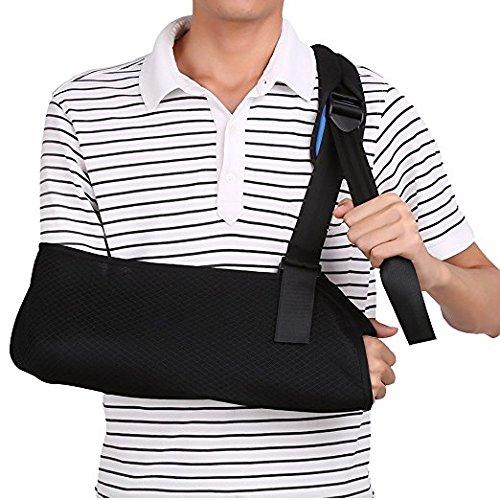 Armschlinge, orthopädisches schulter schlinge, armschlinge schulter einstellbar für armbrüchen gebrochenen arm, Bandage für verletzte Arm Handgelenk Ellbogen (Erwachsene)