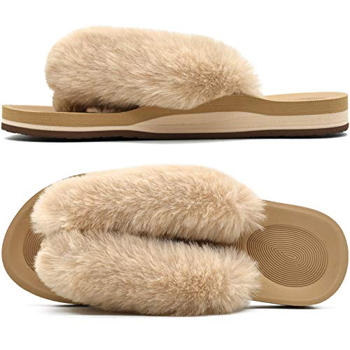 50% off Women's Fuzzy Slippers Use Promo Code: Z4Z5TRCS  Works on select options with no quantity limit 2