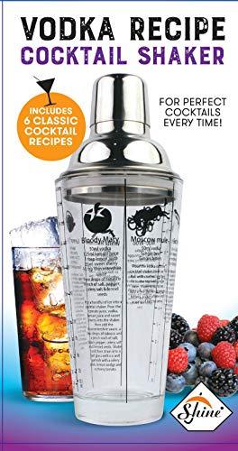 SHINE Glasrezept Cocktail Shaker, Edelstahl, 400ml Vodka oder Gin [Vodka]