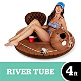 BigMouth Inc. Eager Beaver River Tube - Ultra Durable, Easy-Inflate Vinyl Beaver Raft with Grab n'...